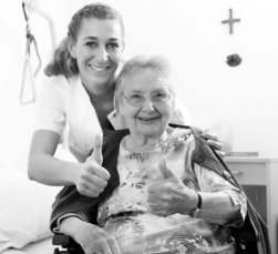 caregiver with her patient