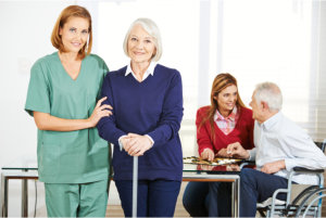 caregivers with their patients